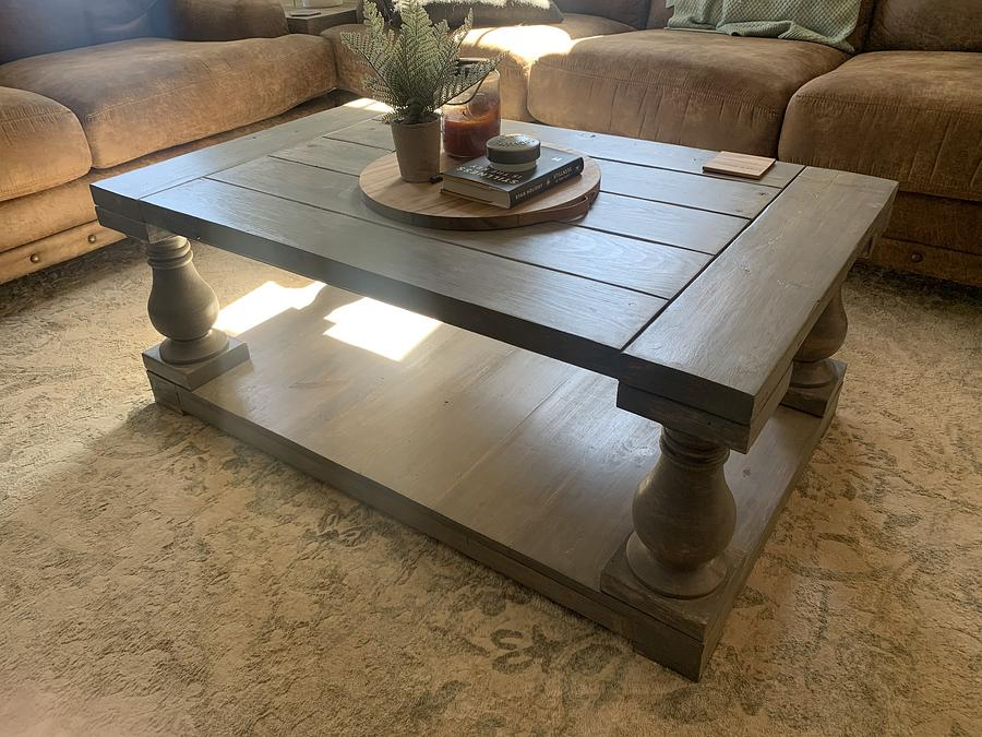 Balustrade coffee table - Woodworking Project by StarsinicWoodworks