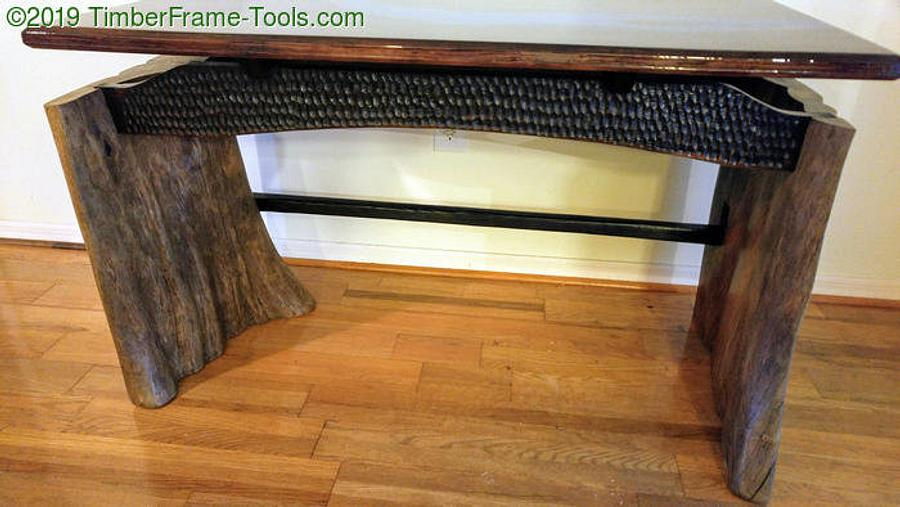 Slab-sided floating top river desk - Woodworking Project by swirt