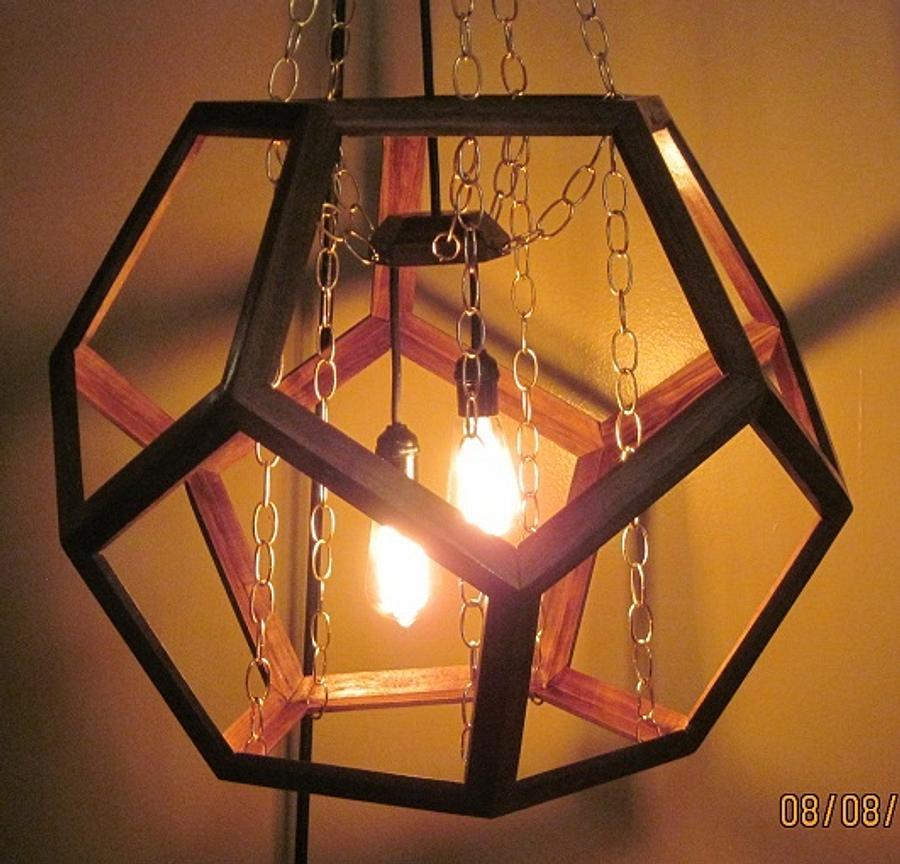 Dodecahedron Hanging lamp - Woodworking Project by papadan