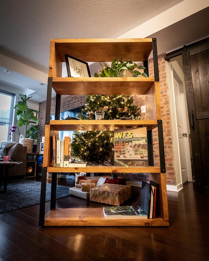 Budget Industrial Bookcase - Woodworking Project by ZacBuilds