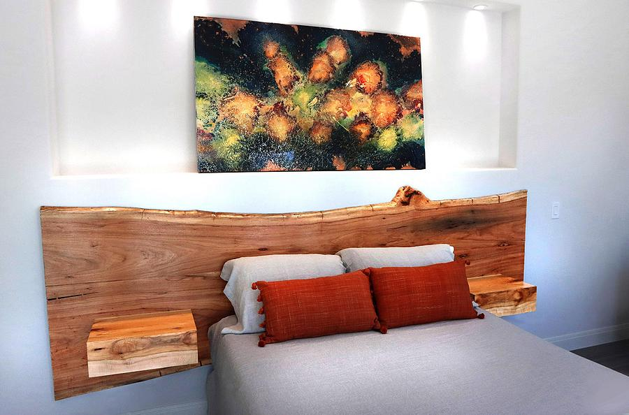Texas Pecan Headboard and night tables - Woodworking Project by CindyG