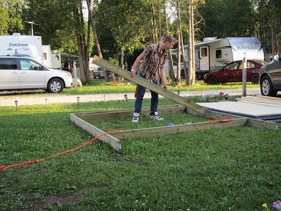 Custom build  shed for my trailer  park - Woodworking Project by ajansz