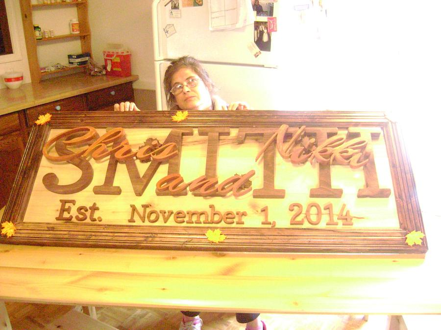 Wedding Sign - Woodworking Project by David Roberts
