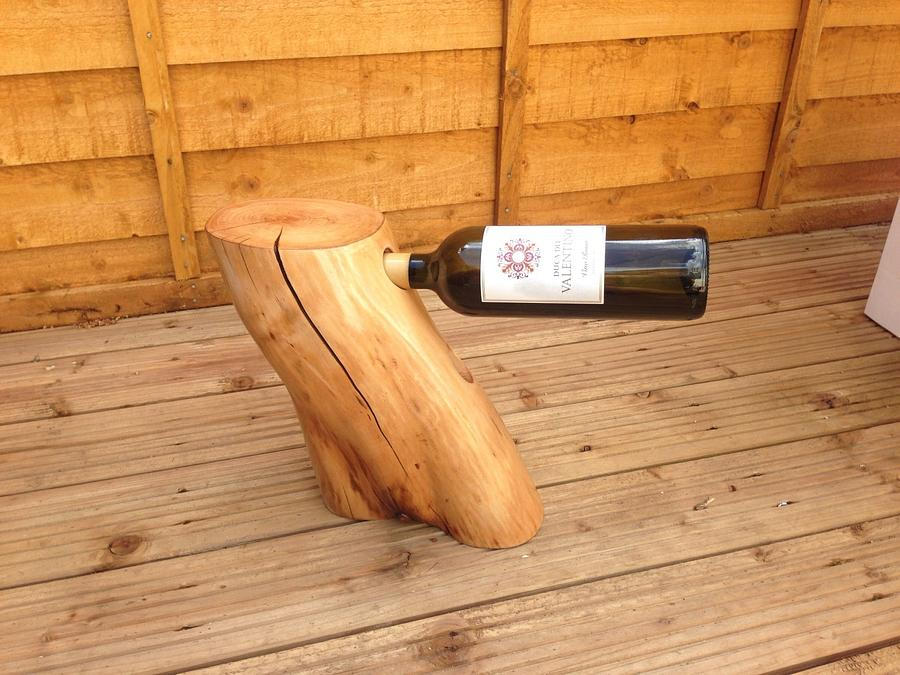 Wine bottle holder - Woodworking Project by iGotWood