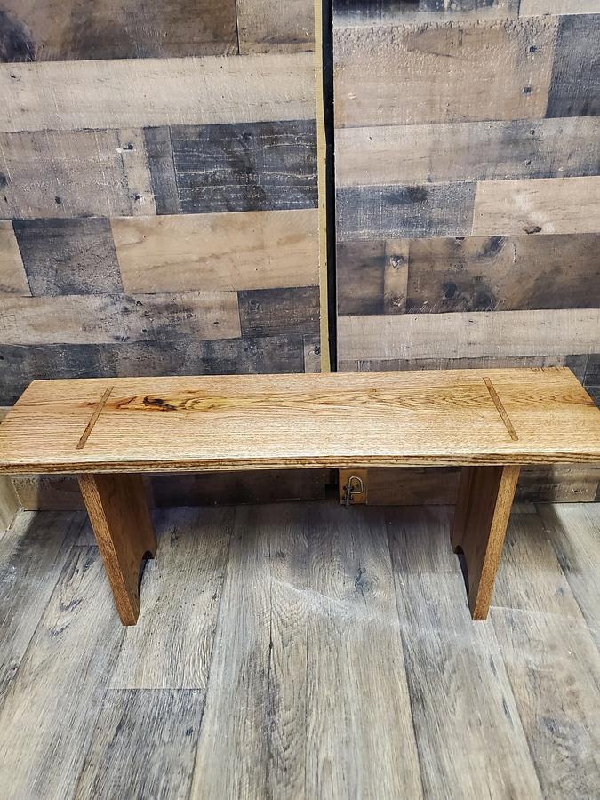 Red oak bench  - Woodworking Project by Hilltop woodworking
