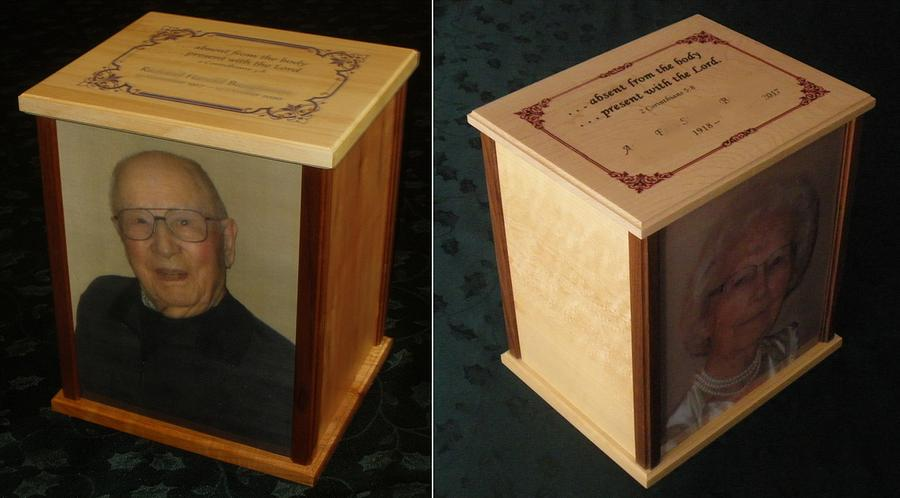 Parents' Urns - Woodworking Project by Lightweightladylefty