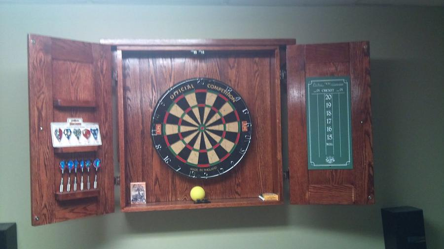 Dart Board Cabinet  - Woodworking Project by Mitch Breault