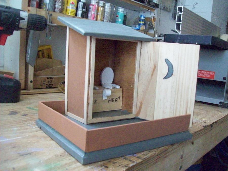 out house bird feeder finish - Woodworking Project by jim webster