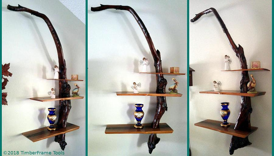 Driftwood Shelves; Asian-style  - Woodworking Project by swirt