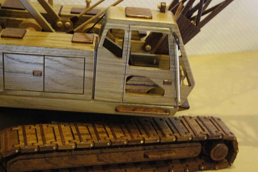 Lattice boom crane - Woodworking Project by Dutchy