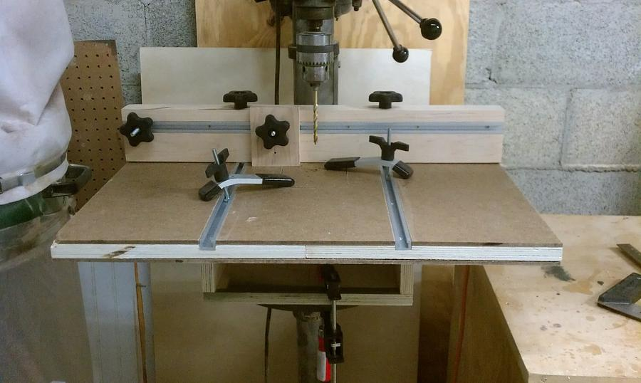 Old Project - Drill Press Table - Woodworking Project by David E.
