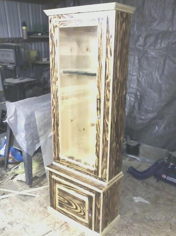 pine gun cabinets - Woodworking Project by Jerbear