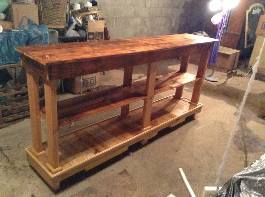 Hall table/ kitchen island - Woodworking Project by Mr bill