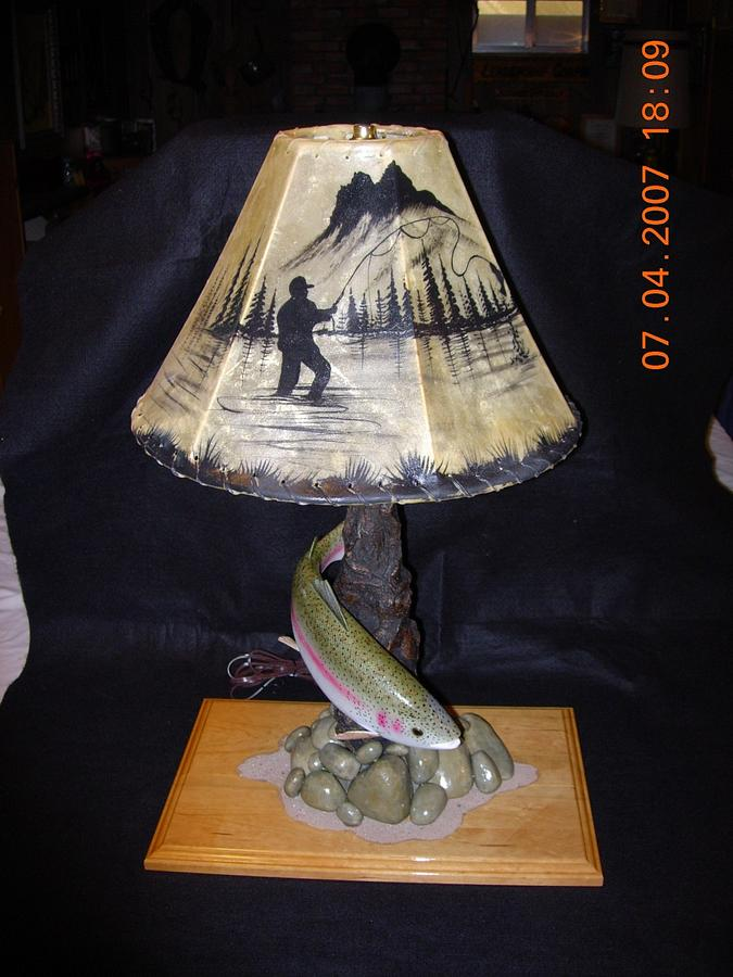 Rainbow Trout Desk Lamp - Woodworking Project by Danny Cowan