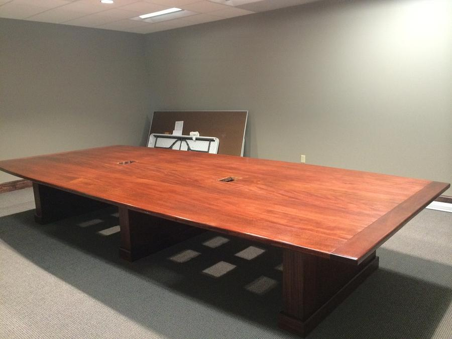 "Mahogany conference room table 2 1/2"" thick top X 6' 8"" wide 15' long - Woodworking Project by woodbutchersc"