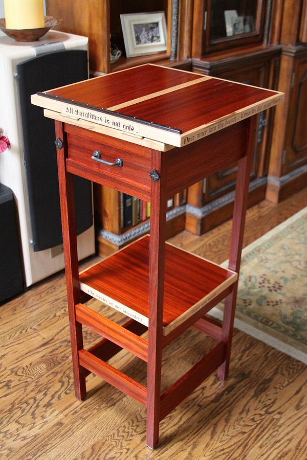 Shakespeare lecture stand - Woodworking Project by Gary