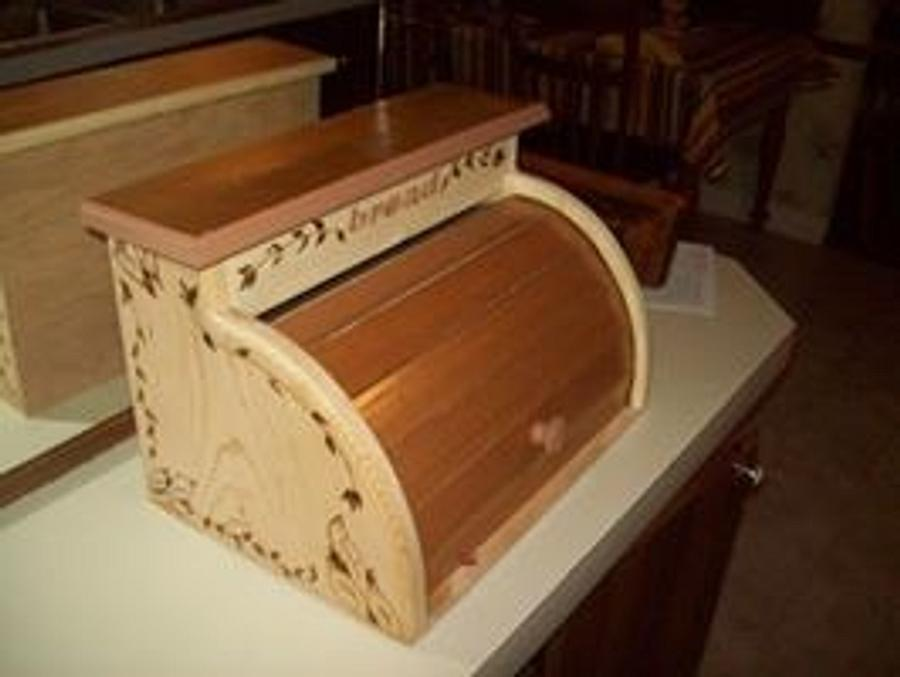 roll top bread box - Woodworking Project by jim webster