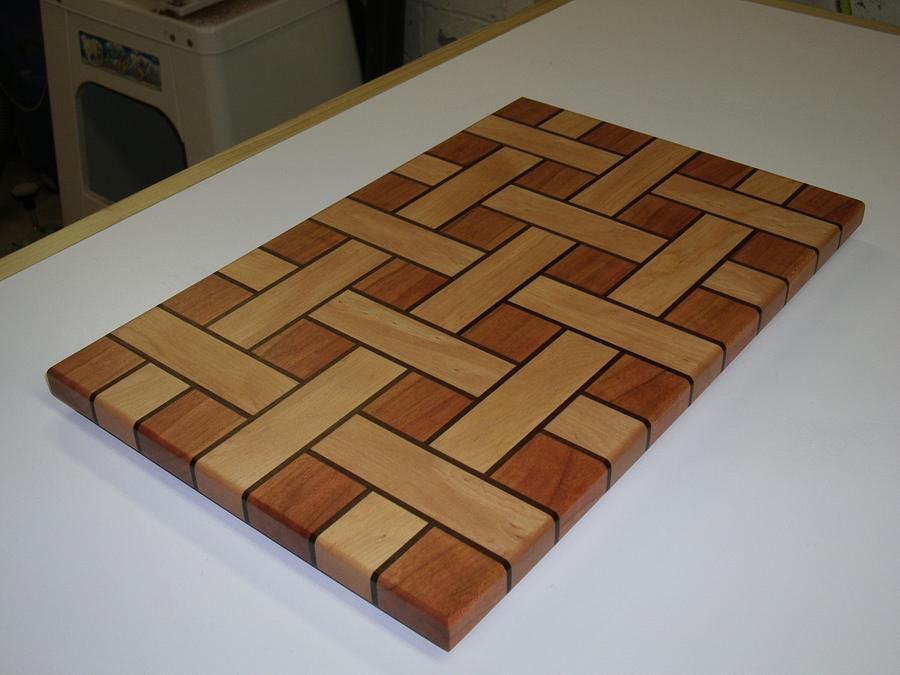 Basket Weave Cutting Boards - Woodworking Project by kdc68