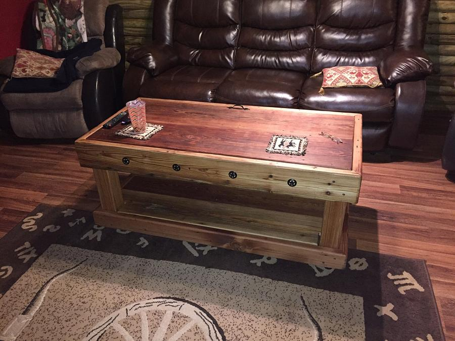 Coffee table - Woodworking Project by santabill