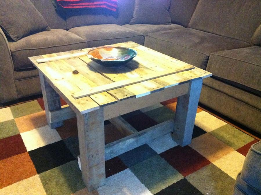 Pallet wood coffee table - Woodworking Project by Bulldawg