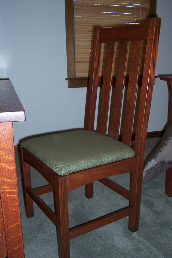 Arts and Crafts Desk Chair in QSRO - Woodworking Project by VincentN
