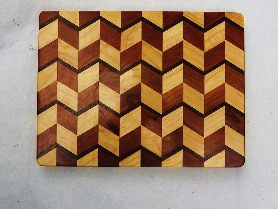 3 D cutting Board - Woodworking Project by oldrivers