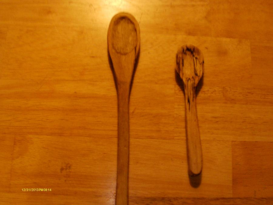 Spalted Maple Spoons - Woodworking Project by Rustic1