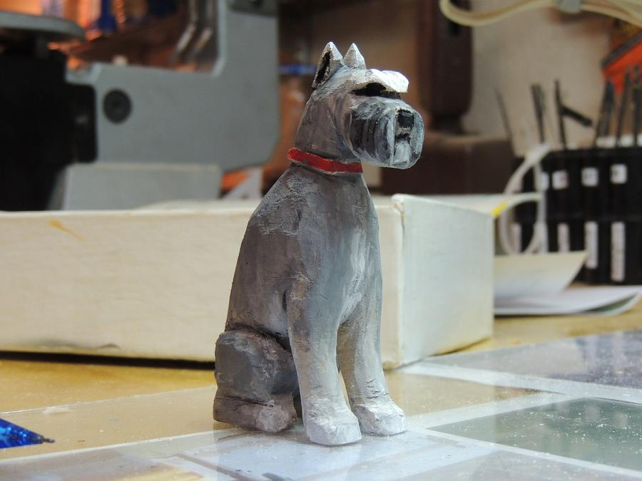 Schnauzer carving - Woodworking Project by Rolando Pupo