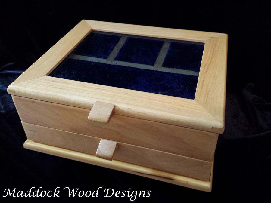 """Jewelry Box """"Blue Gem"""" - Woodworking Project by Angela Maddock"""