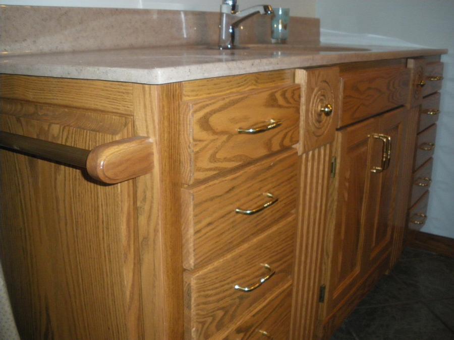 Bathroom vanity - Woodworking Project by Lightweightladylefty