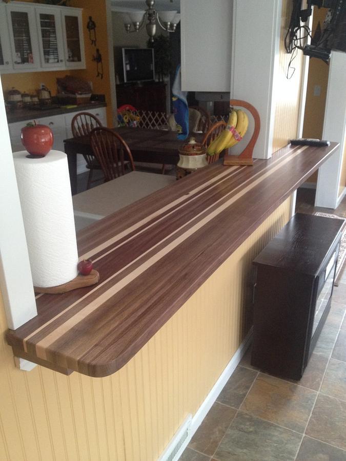 Walnut butcher block bar top - Woodworking Project by Hartman Woodworks