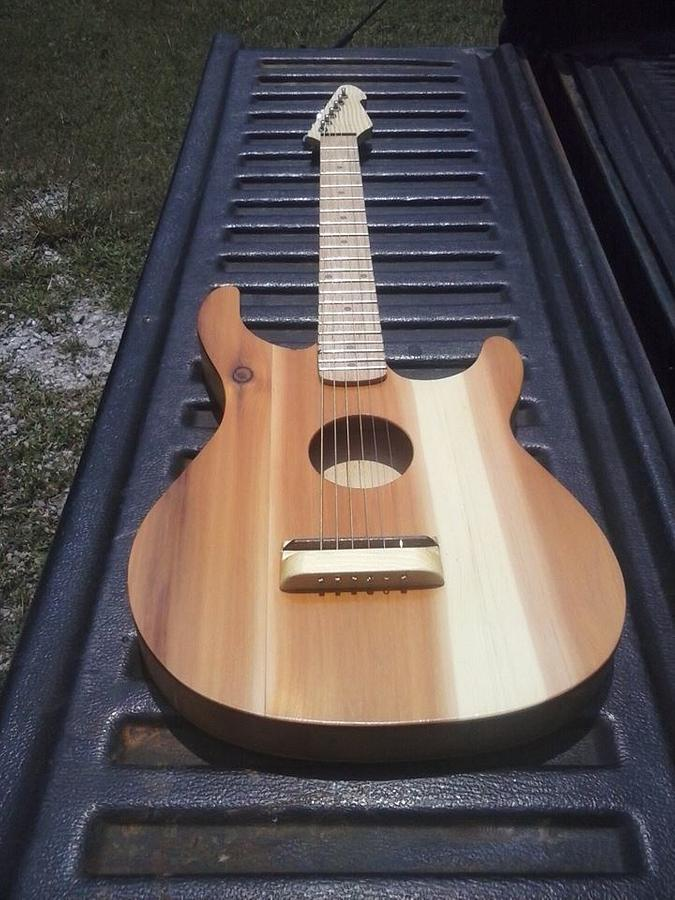 scrap wood guitar - Woodworking Project by billy