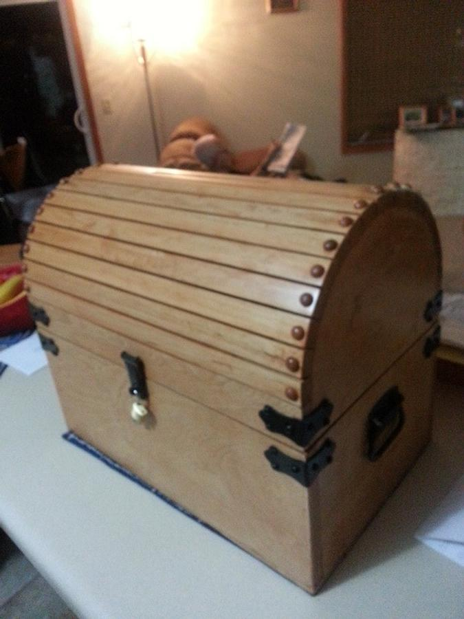 Steamer Trunk / Card Box - Woodworking Project by Jeff Vandenberg