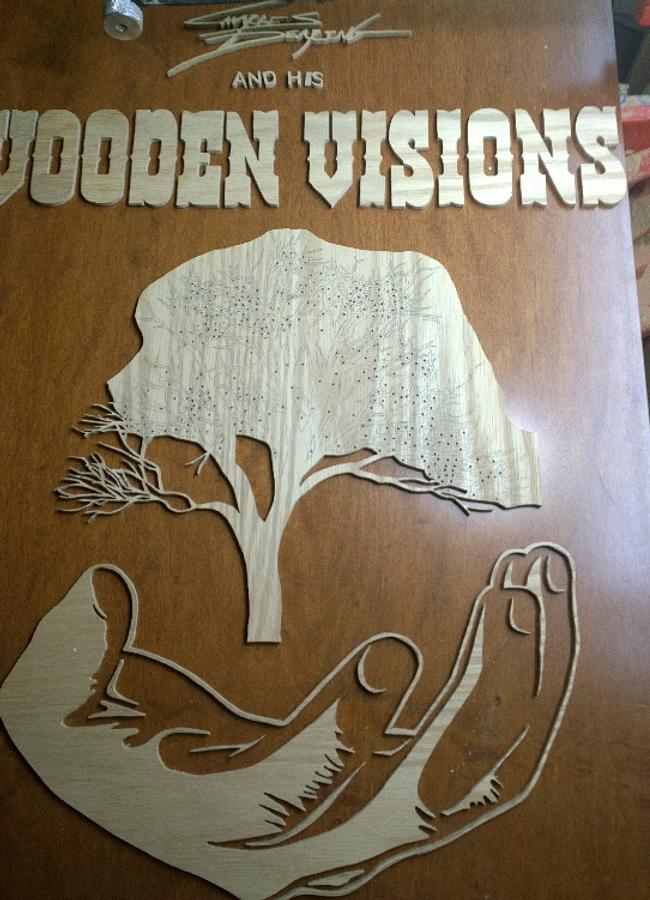 A dry run on making my logo/sign - Woodworking Project by Charles Dearing Scroll sawyer and pattern designer