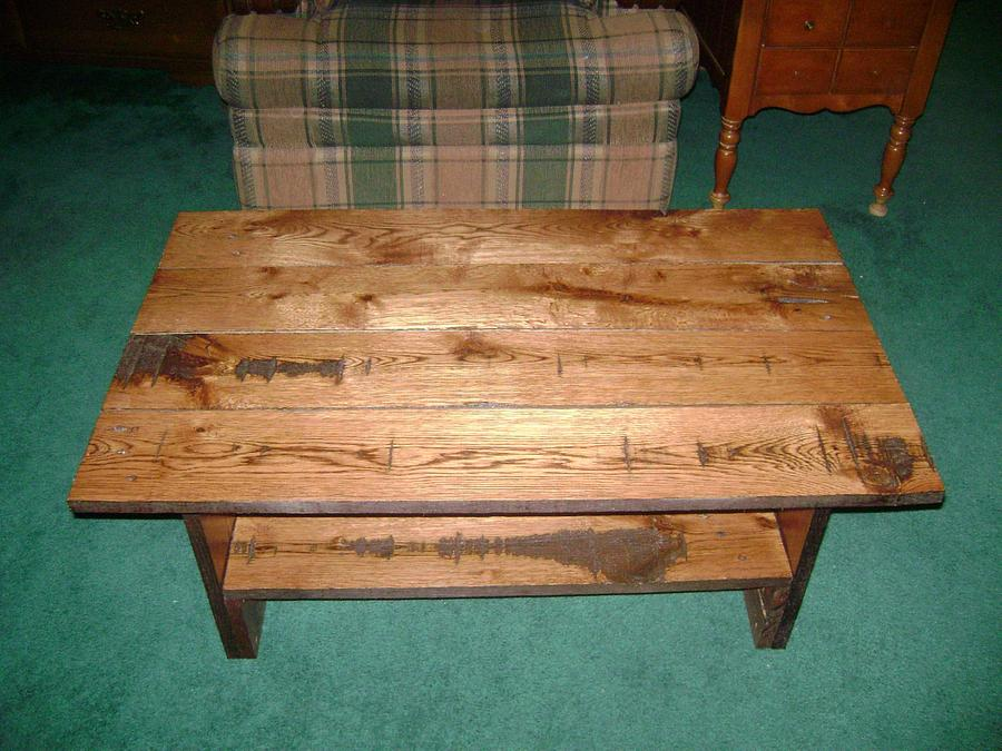 Reclaimed Oak Coffee Table - Woodworking Project by David Roberts
