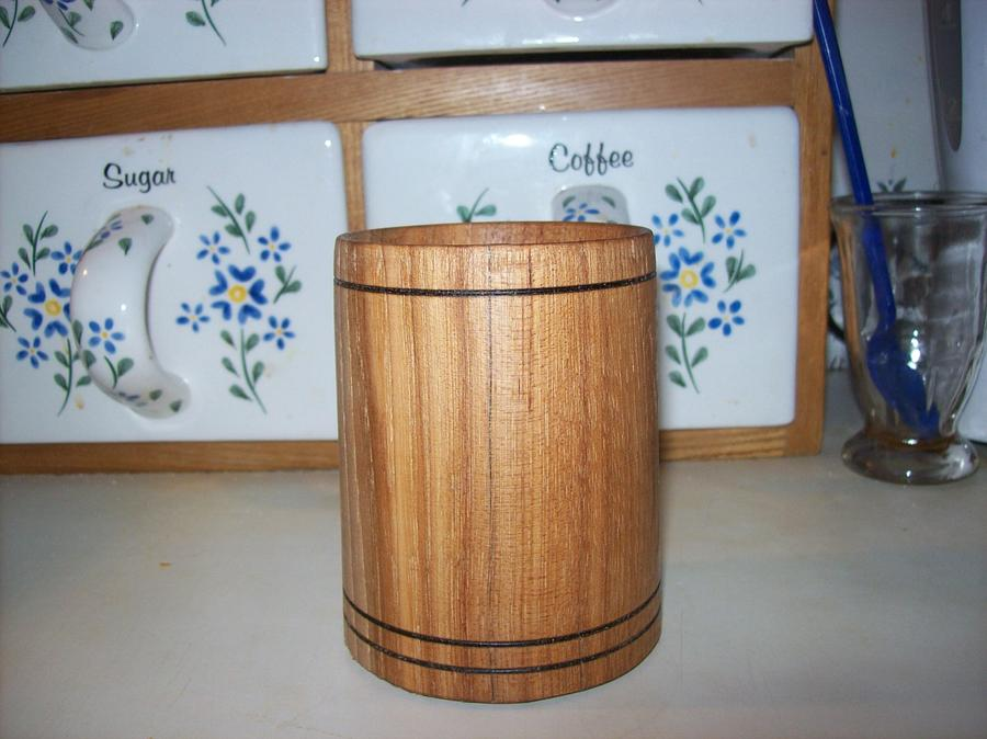 Red Oak Cup - Woodworking Project by Rustic1