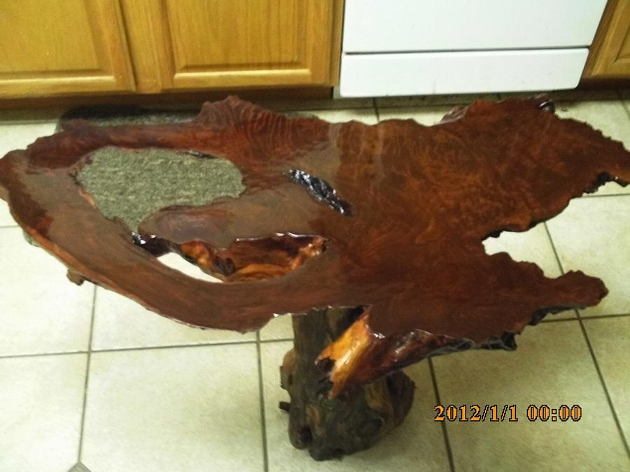 redwood slab - Woodworking Project by barnwoodcreations