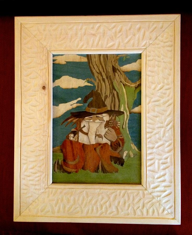 A frame for my Wizard Marquetry  - Woodworking Project by Mike40