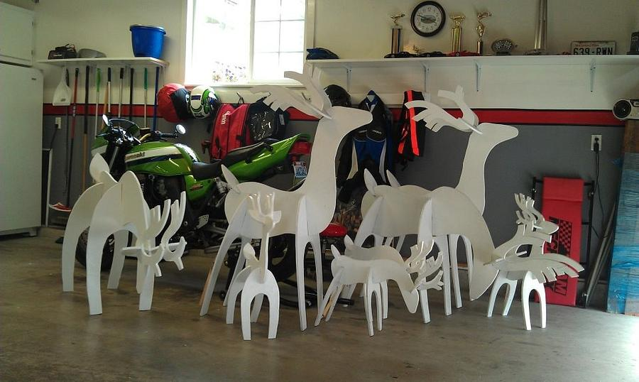 A herd of reindeer - Woodworking Project by Tim