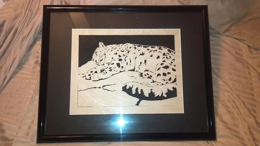 Snow leopard - Woodworking Project by Corey