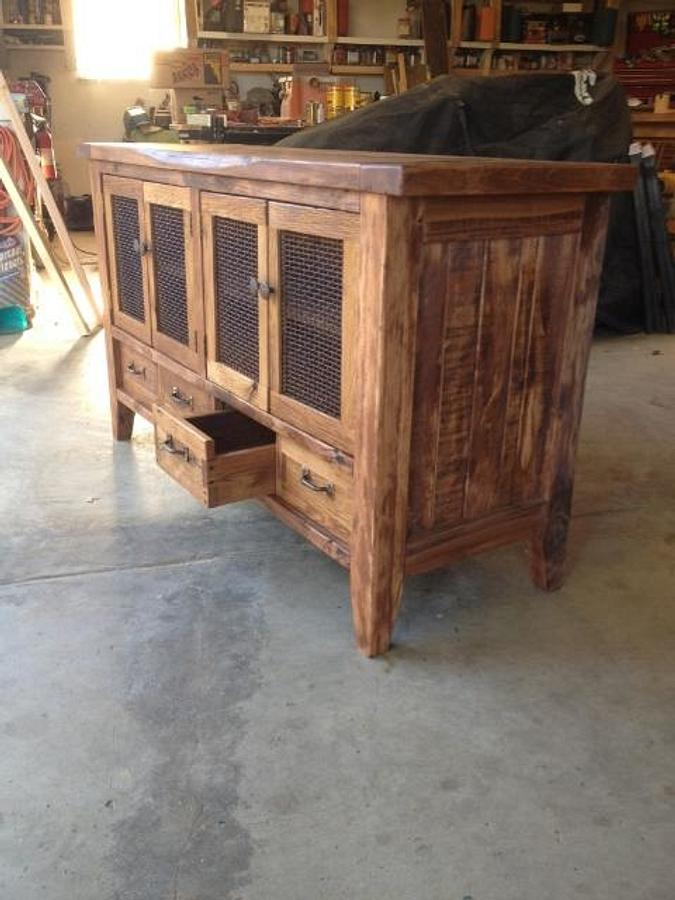 salvaged wood and hardware tv stand - Woodworking Project by Quin W.