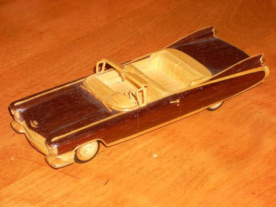Wooden 1/32 Scale '59 Caddy Eldorado - Woodworking Project by Shin