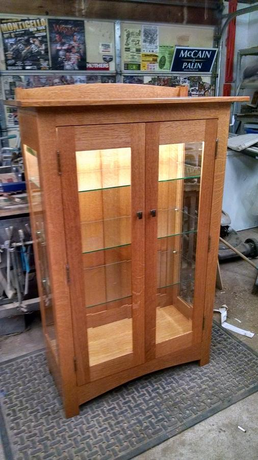 mission style curio cabinet - Woodworking Project by kenmitzjr