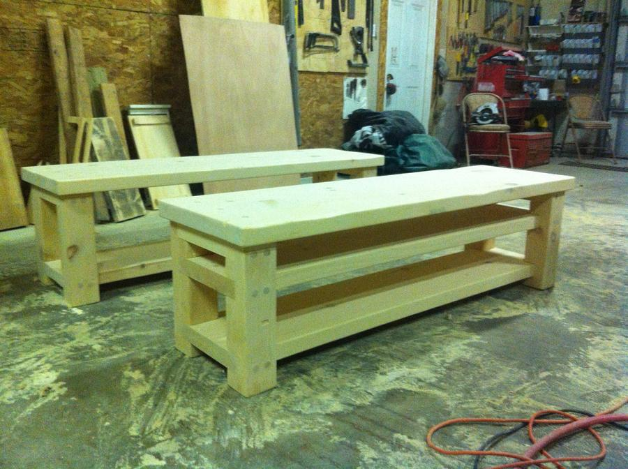 """62"""" Fireside Benches - Woodworking Project by Wowrustics"""