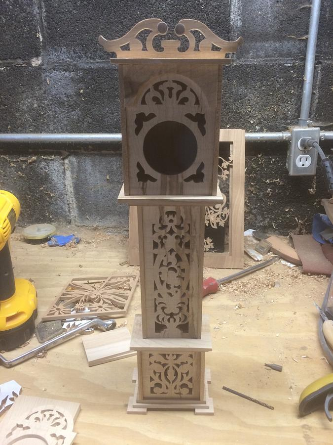 Mini grandfather clock  - Woodworking Project by Corey