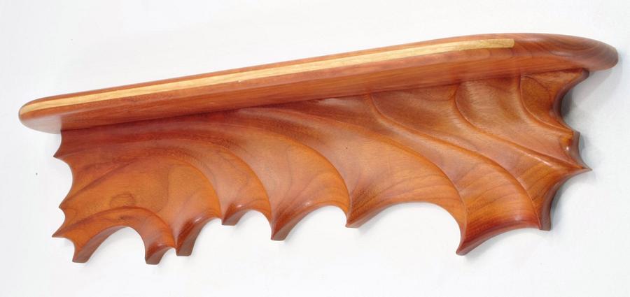 Sculpted Teak Wall Shelf - Woodworking Project by Greg