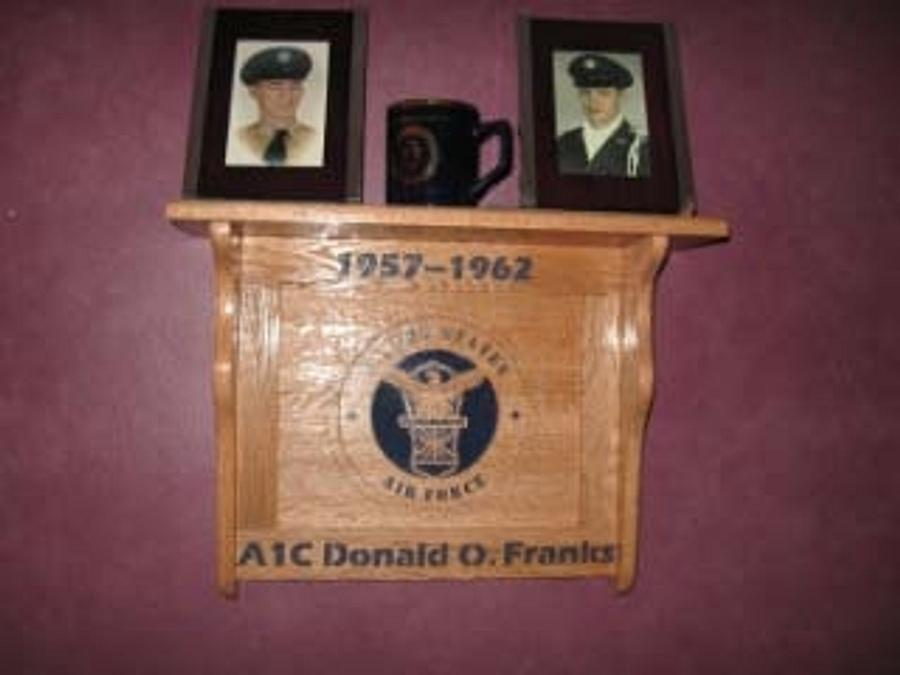 Air Force scrolled shelf - Woodworking Project by Rickswoodworks