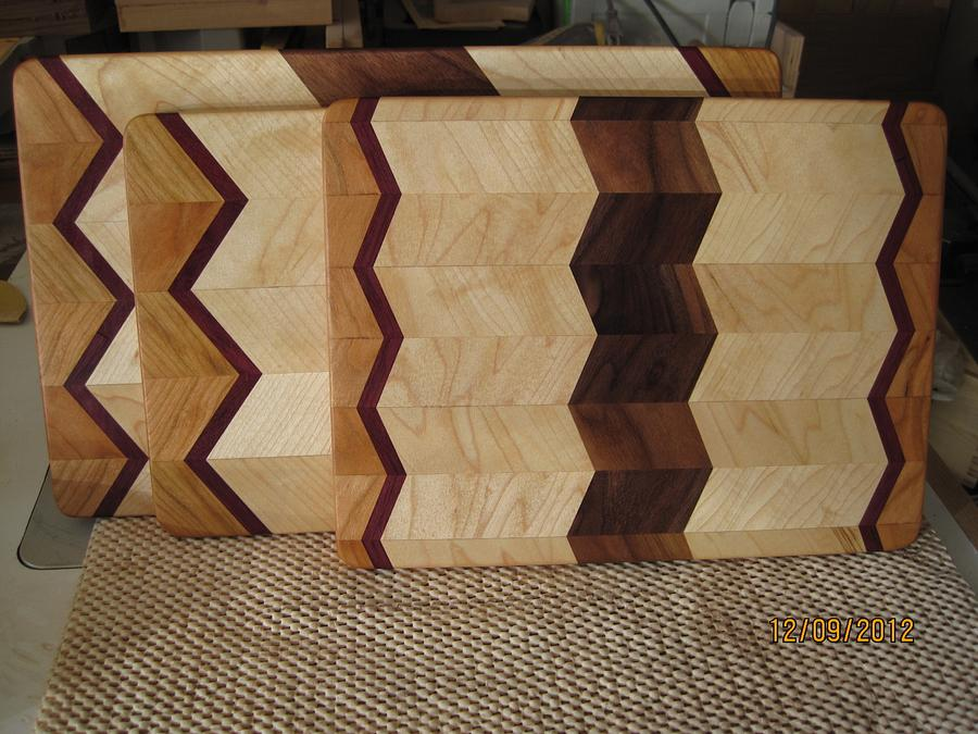 Wide chevron board - Woodworking Project by lanwater