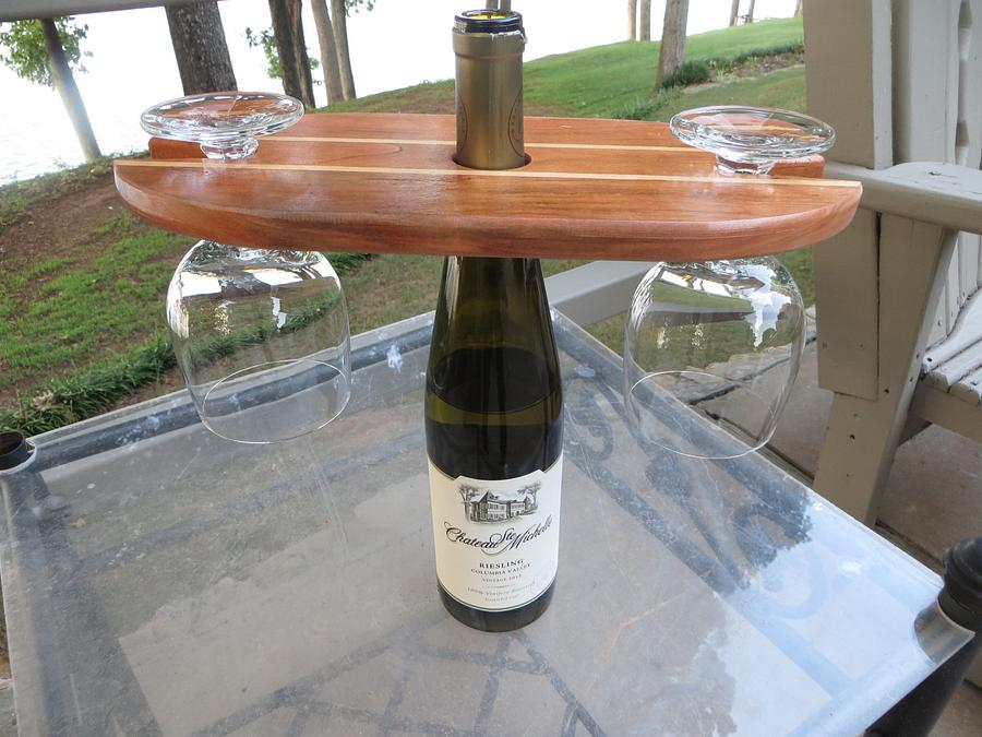 Cherry / Maple wine display - Woodworking Project by oldrivers