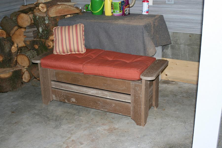 Patio Bench - Woodworking Project by Railway Junk Creations